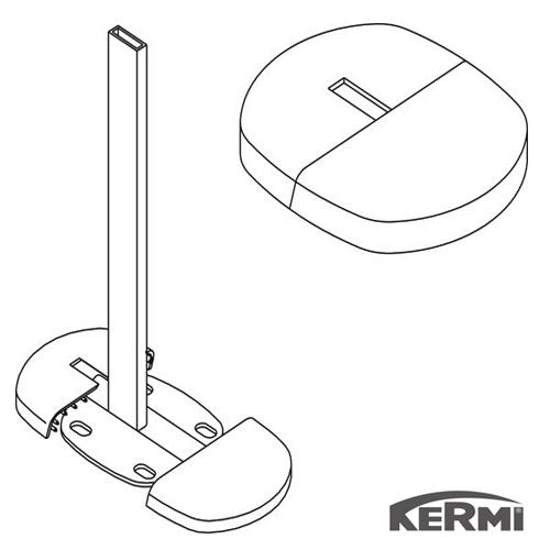 Накладка декоративная KERMI ZHERKF30WEI чистый пол ZB00290001  - 1