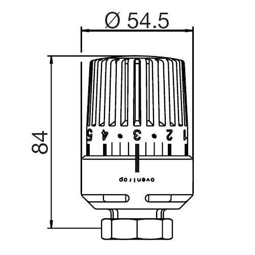 Термостат Oventrop Uni LH М30Х1,5 белый  - 2